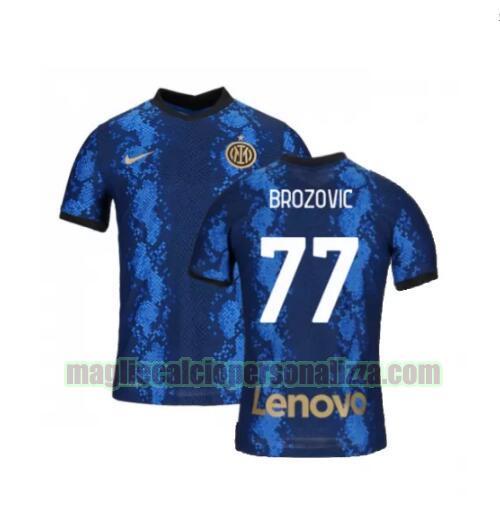 Vendita maglia prima inter milan uomo brozovic 77 2021-2022 poco ...