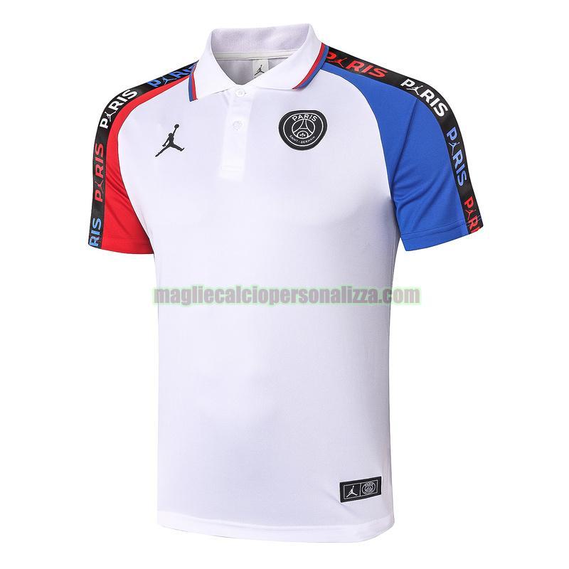 Vendita magliette polo calcio paris saint germain uomo bianca ...